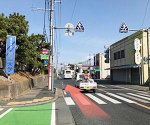しばらく直進していくと左手に静岡大学が見えてきます。